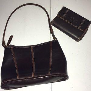 Handbags - dark brown purse and wallet set